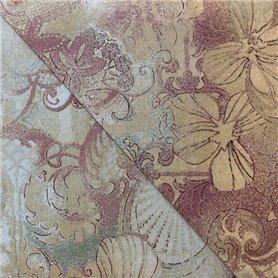 Tela 100% algodon patchwork estampado flores Colores Vintage Anchura 1,10 cm.  Venta de 10 en 10 cm
