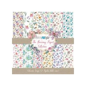 Coleccion The Flowering Project Collection 12 papeles Scrapbooking 30x30cm dos caras