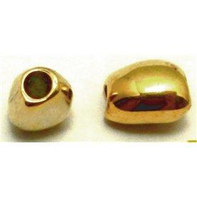 Bola Pepita Oro Brillante Ext. 12x9mm Pase 3,5 mm