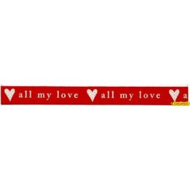Al-My-Love Rojo/Marfil 15mm (metro)