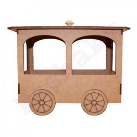 Vagon Tren Madera 3D 24x12x18cm
