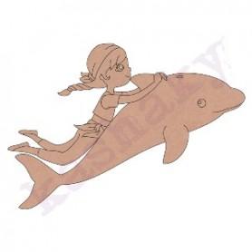 Silueta DM Niño en Delfin 25x17,5cm