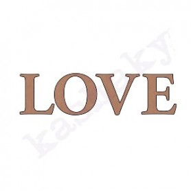 """Palabra DM """"Love"""" Letras Sueltas  22x6cm."""