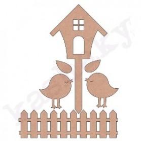 Conjunto Siluetas DM Pajaritos con Valla y Casa 12x3x6cm.