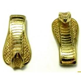 Cierre Gancho Cabeza de Serpiente Oro Brillante 39x20mm 10x3mm Int.