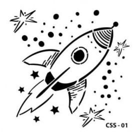 Kids Space Stencil 15x15 cm CADENCE