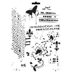 Plantilla Stencil Cadence Textura 21x30cm