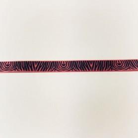 Cinta Algodon Rosa, Animal Print 15mm
