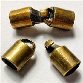 Cierre Pestaña y Ovalado 2 Partes Oro Viejo  6x8mm. Int.