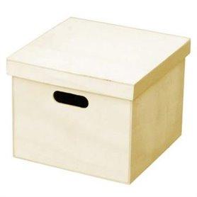 Caja Pino Con Asas 20x20x16cm