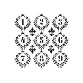 Plantilla Stencil Números Cadence 45x45Cm
