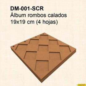 ALBUM DM ROMBOS CALADOS 19x19CM