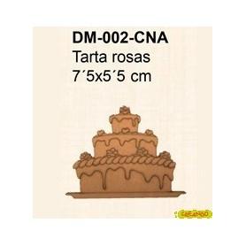 SILUETA TARTA ROSAS 7´5x5´5CM