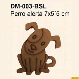 SILUETA PERRO ALERTA 7x5,5CM
