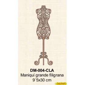 SILUETA MANIQUI FILIGRANA GRANDE 9,5x30CM