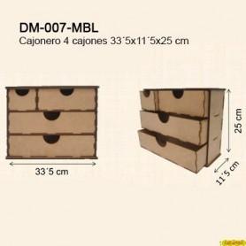 CAJONERO 4 CAJONES 33,2x11,5x25CM