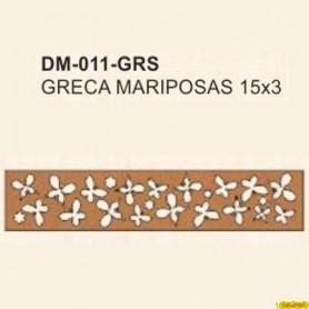 GRECA MARIPOSAS 15x3CM