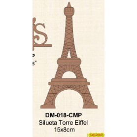 SILUETA TORRE EIFFEL 15x8CM