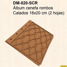 ÁLBUM DM CENEFA ROMBOS CALADO 18x20CM
