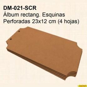 ALBUM ESQUINAS PERFORADAS 23x12CM
