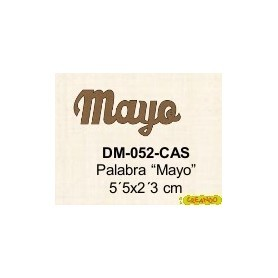 PALABRA MAYO 5´5x2,3CM