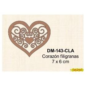 SILUETA CORAZON FILIGRANA 7x67x6CM