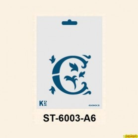 Stencil  DIN A6 Inicial C 105x148´5 mm