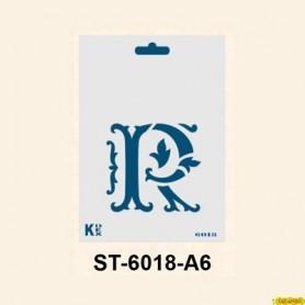 Stencil  DIN A6 Inicial R 105x148´5 mm
