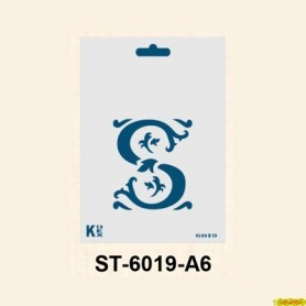 Stencil  DIN A6 Inicial S 105x148´5 mm