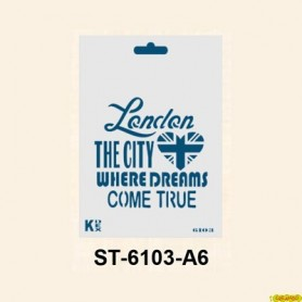 Plantilla Stencil DIN A6 London 105x148´5 mm