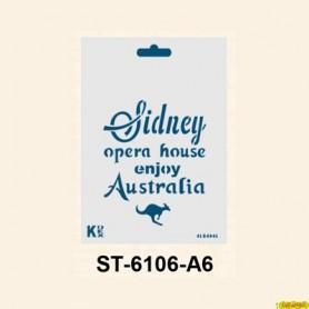 Plantilla Stencil DIN A6 Sidney 105x148´5 mm