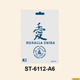 Plantilla Stencil DIN A6 China 105x148´5 mm