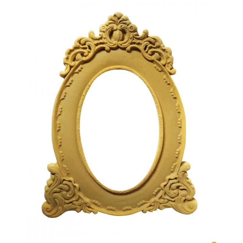 Marco ovalado apliques 20 x 15 cm int. 11 x 7 cm