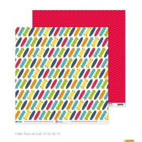 """Papel Scrapbooking  (30,5 x 30,5 cm) Anita y su Mundo """"Juegos"""" libre de acidos y lignina"""
