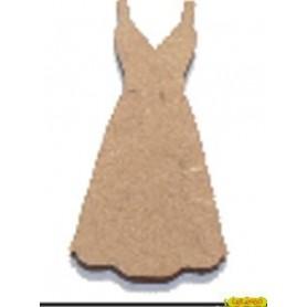 Silueta Vestido 2,7x4,5CM
