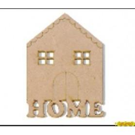 Silueta Casa home  4x5,5  cm