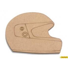 Silueta Casco de Moto 5x3,5 cm