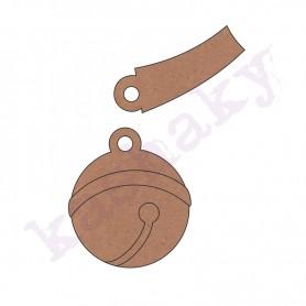 Silueta DM Cascabel Con Collar 5,5x4,5cm