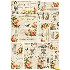 Papel de Arroz Calambour Perfumerie Clouterie 20gr 34x24cm
