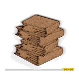 Silueta Libros 4,3x4,5cm