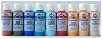 La pintura mas utilizada en manualidades, por su  aplicación y secado